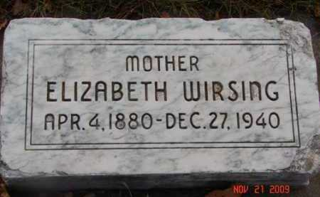 WIRSING, ELIZABETH - Minnehaha County, South Dakota   ELIZABETH WIRSING - South Dakota Gravestone Photos