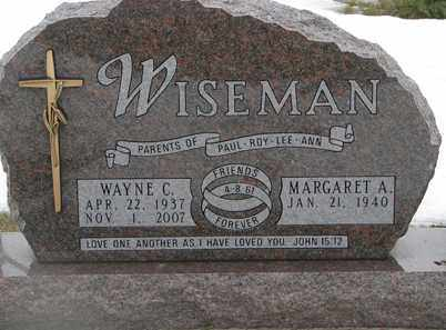 WISEMAN, WAYNE C. - Minnehaha County, South Dakota | WAYNE C. WISEMAN - South Dakota Gravestone Photos