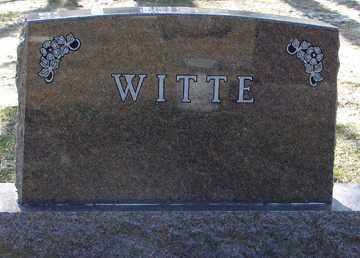 WITTE, FAMILY MARKER - Minnehaha County, South Dakota   FAMILY MARKER WITTE - South Dakota Gravestone Photos