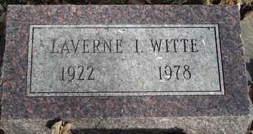WITTE, LAVERNE I. - Minnehaha County, South Dakota | LAVERNE I. WITTE - South Dakota Gravestone Photos