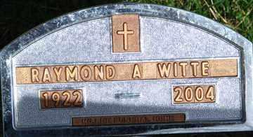 WITTE, RAYMOND A. - Minnehaha County, South Dakota | RAYMOND A. WITTE - South Dakota Gravestone Photos