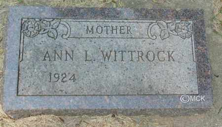 WITTROCK, ANN L. - Minnehaha County, South Dakota | ANN L. WITTROCK - South Dakota Gravestone Photos