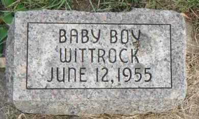 WITTROCK, BABY BOY - Minnehaha County, South Dakota   BABY BOY WITTROCK - South Dakota Gravestone Photos