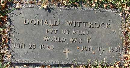 WITTROCK, DONALD - Minnehaha County, South Dakota   DONALD WITTROCK - South Dakota Gravestone Photos