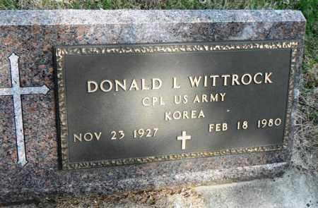 WITTROCK, DONALD L. - Minnehaha County, South Dakota | DONALD L. WITTROCK - South Dakota Gravestone Photos