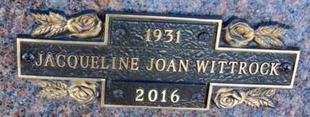 WITTROCK, JACQUELINE JOAN - Minnehaha County, South Dakota | JACQUELINE JOAN WITTROCK - South Dakota Gravestone Photos