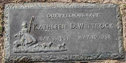 WITTROCK, KATHLEEN D. - Minnehaha County, South Dakota | KATHLEEN D. WITTROCK - South Dakota Gravestone Photos