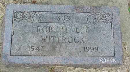 WITTROCK, ROBERT LEE - Minnehaha County, South Dakota | ROBERT LEE WITTROCK - South Dakota Gravestone Photos