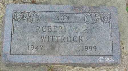 WITTROCK, ROBERT LEE - Minnehaha County, South Dakota | ROBERT LEE WITTROCK - South Dakota Gravestone Photos