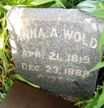 WOLD, ANNA A. - Minnehaha County, South Dakota | ANNA A. WOLD - South Dakota Gravestone Photos
