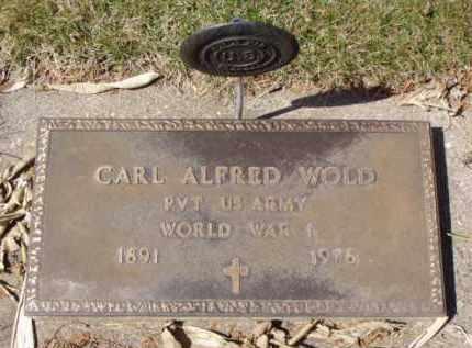 WOLD, CARL ALFRED - Minnehaha County, South Dakota | CARL ALFRED WOLD - South Dakota Gravestone Photos