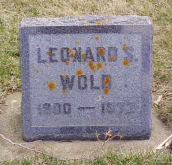 WOLD, LEONARD SEVERT - Minnehaha County, South Dakota | LEONARD SEVERT WOLD - South Dakota Gravestone Photos