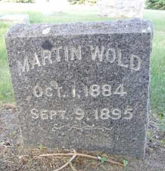 WOLD, MARTIN - Minnehaha County, South Dakota   MARTIN WOLD - South Dakota Gravestone Photos