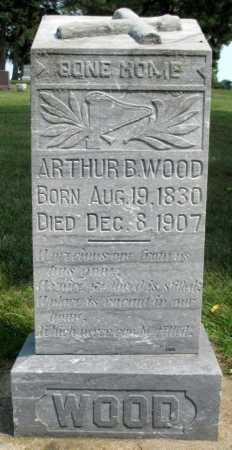 WOOD, ARTHUR B. - Minnehaha County, South Dakota   ARTHUR B. WOOD - South Dakota Gravestone Photos