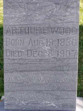 WOOD, ARTHUR B. - Minnehaha County, South Dakota | ARTHUR B. WOOD - South Dakota Gravestone Photos