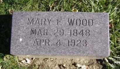 WOOD, MARY E. - Minnehaha County, South Dakota | MARY E. WOOD - South Dakota Gravestone Photos