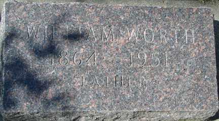 WORTH, WILLIAM - Minnehaha County, South Dakota   WILLIAM WORTH - South Dakota Gravestone Photos