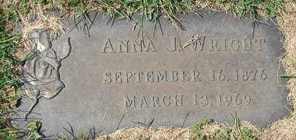 WRIGHT, ANNA J. - Minnehaha County, South Dakota | ANNA J. WRIGHT - South Dakota Gravestone Photos