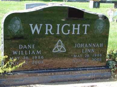 WRIGHT, DANE WILLIAM - Minnehaha County, South Dakota | DANE WILLIAM WRIGHT - South Dakota Gravestone Photos
