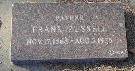 WRIGHT, FRANK RUSSELL - Minnehaha County, South Dakota | FRANK RUSSELL WRIGHT - South Dakota Gravestone Photos