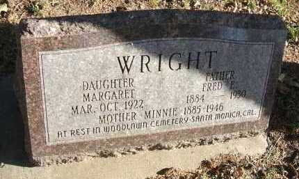 WRIGHT, MARGARET - Minnehaha County, South Dakota | MARGARET WRIGHT - South Dakota Gravestone Photos