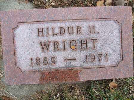 WRIGHT, HILDUR H. - Minnehaha County, South Dakota   HILDUR H. WRIGHT - South Dakota Gravestone Photos