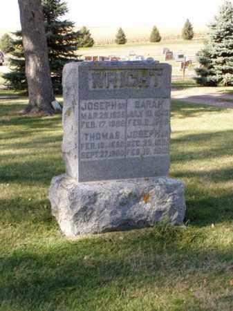 WRIGHT, SARAH - Minnehaha County, South Dakota | SARAH WRIGHT - South Dakota Gravestone Photos