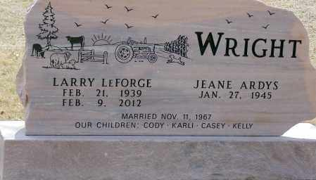 WRIGHT, JEANE ARDYS - Minnehaha County, South Dakota | JEANE ARDYS WRIGHT - South Dakota Gravestone Photos