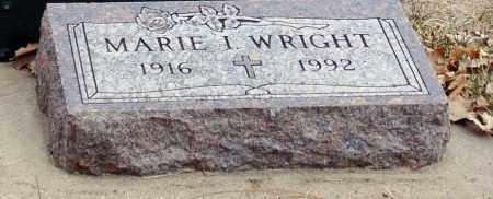 WRIGHT, MARIE I. - Minnehaha County, South Dakota   MARIE I. WRIGHT - South Dakota Gravestone Photos