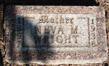 WRIGHT, NEVA M. - Minnehaha County, South Dakota | NEVA M. WRIGHT - South Dakota Gravestone Photos