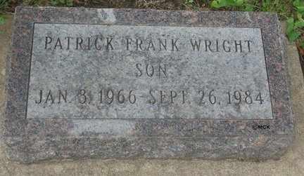 WRIGHT, PATRICK FRANK - Minnehaha County, South Dakota | PATRICK FRANK WRIGHT - South Dakota Gravestone Photos