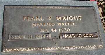 WRIGHT, PEARL V. - Minnehaha County, South Dakota | PEARL V. WRIGHT - South Dakota Gravestone Photos