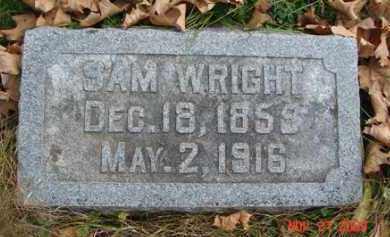 WRIGHT, SAM - Minnehaha County, South Dakota   SAM WRIGHT - South Dakota Gravestone Photos