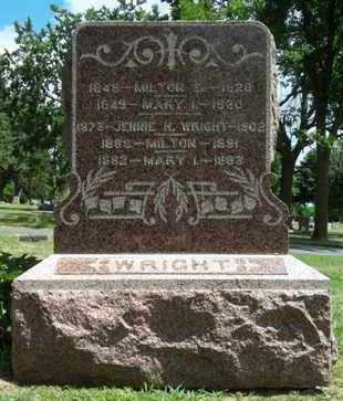 WRIGHT WRIGHT, MARY L. - Minnehaha County, South Dakota | MARY L. WRIGHT WRIGHT - South Dakota Gravestone Photos