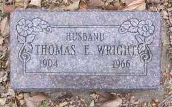 WRIGHT, THOMAS E. - Minnehaha County, South Dakota | THOMAS E. WRIGHT - South Dakota Gravestone Photos