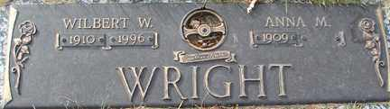 WRIGHT, ANNA M. - Minnehaha County, South Dakota | ANNA M. WRIGHT - South Dakota Gravestone Photos