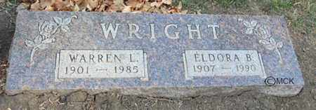 WRIGHT, WARREN L. - Minnehaha County, South Dakota | WARREN L. WRIGHT - South Dakota Gravestone Photos