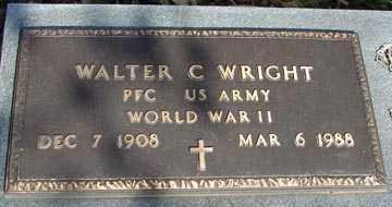 WRIGHT, WALTER C. (WWII) - Minnehaha County, South Dakota | WALTER C. (WWII) WRIGHT - South Dakota Gravestone Photos
