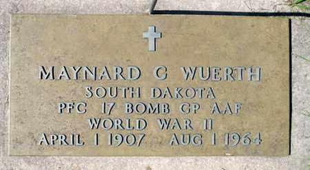 WUERTH, MAYNARD G. (WWII) - Minnehaha County, South Dakota   MAYNARD G. (WWII) WUERTH - South Dakota Gravestone Photos