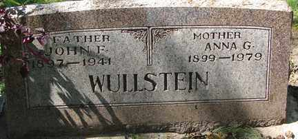 WULLSTEIN, ANNA G. - Minnehaha County, South Dakota | ANNA G. WULLSTEIN - South Dakota Gravestone Photos