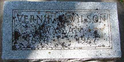 WYMAN, VERNIE WILSON - Minnehaha County, South Dakota | VERNIE WILSON WYMAN - South Dakota Gravestone Photos