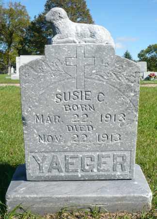 YAEGER, SUSIE C. - Minnehaha County, South Dakota | SUSIE C. YAEGER - South Dakota Gravestone Photos
