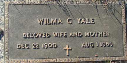 YALE, WILMA G. - Minnehaha County, South Dakota   WILMA G. YALE - South Dakota Gravestone Photos