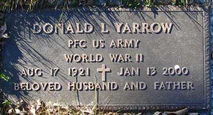 YARROW, DONALD L. - Minnehaha County, South Dakota | DONALD L. YARROW - South Dakota Gravestone Photos