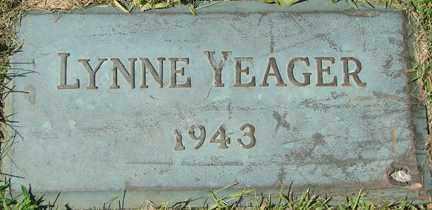 YEAGER, LYNNE - Minnehaha County, South Dakota | LYNNE YEAGER - South Dakota Gravestone Photos