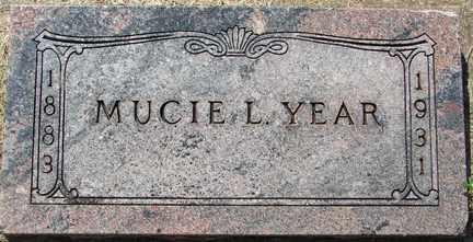 YEAR, MUCIE L. - Minnehaha County, South Dakota   MUCIE L. YEAR - South Dakota Gravestone Photos