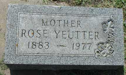 YEUTTER, ROSE - Minnehaha County, South Dakota   ROSE YEUTTER - South Dakota Gravestone Photos