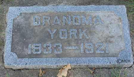 YORK, JANE - Minnehaha County, South Dakota | JANE YORK - South Dakota Gravestone Photos