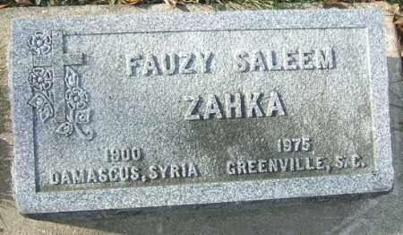 ZAHKA, FAUZY SALEEM - Minnehaha County, South Dakota | FAUZY SALEEM ZAHKA - South Dakota Gravestone Photos