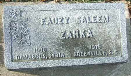 ZAHKA, FAUZY SALEEM - Minnehaha County, South Dakota | FAUZY SALEEM ZAHKA - South Dakota Gravestone Photos
